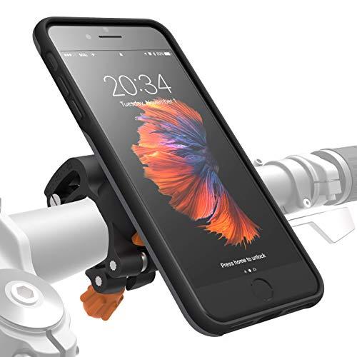 MORPHEUS LABS M4s iPhone 8 Plus / 7 Plus Fahrrad Halterung Fahrradhalterung - Handyhalterung  & iPhone 8 Plus / 7 Plus Hülle Rad, Bike-Kit grau (auch für iPhone 6 PLUS eingeschränkt nutzbar*)
