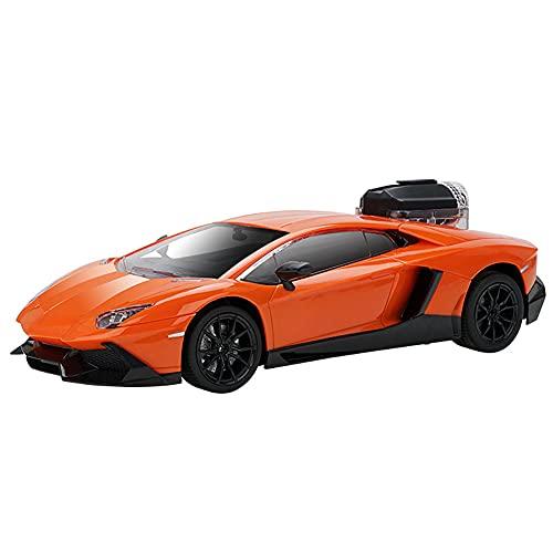 ZDYHBFE 1:14 Fast Sports Car RC Drift Car 2.4Ghz Simulación de sonido Luces de colores Racing Spray Car Resistente a choques Conducción multidireccional Niño Coche de juguete Coche de regalo para niño