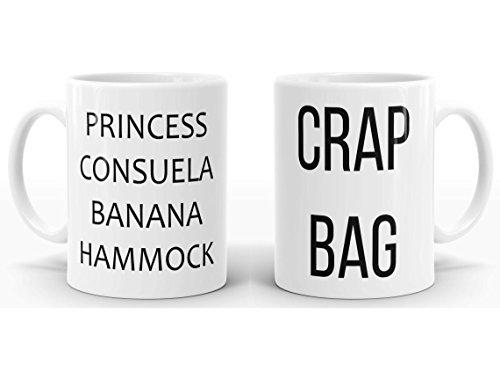 Set of 2 Crap Bag & Princess Consuela Banana Hammock Mug, Gift for Couple, Tea or Coffee Mug 11oz