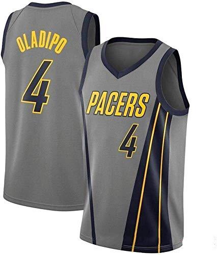 Hyzb Herren Trikots -Victor Oladipo # 4 Indiana Pacers Basketball Jersey, kühle Breathable Gewebe Swingman Unisex Klassische Weste Trikots T-Shirt (Color : M:175cm/65~75kg)