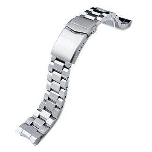 Cinturino orologio 20mm Hexad Oyster acciaio inossidabile 316L cinturino dell'orologio per Seiko Sumo SBDC001, chiusura doppia con bottone a V