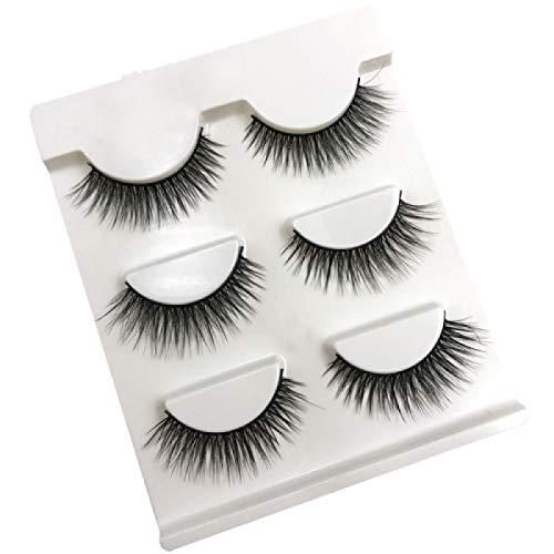 3 Pairs Natural False Eyelashes Fake Lashes Long Makeup 3D Mink Lashes Extension Eyelash Mink Eyelashes pour Beauty(11mm)