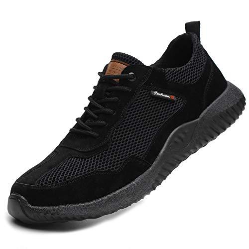 Chaussures de Travail de sécurité Hommes Femmes Bout en Acier Chaussures de sécurité Anti-crevaison Protection Respirant léger Baskets Confortables Unisexe