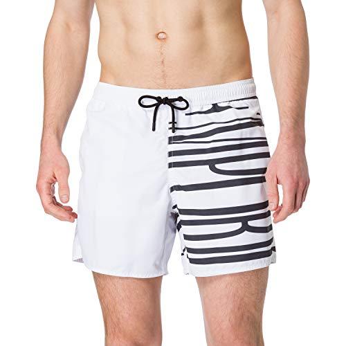 EMPORIO ARMANI swimwear Boxer Brand Evidence Costume da Bagno, Emporio Armani Black, 46 Uomo