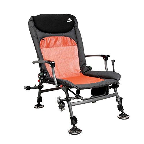 Klapstoel, Portable Comfortabele gestoffeerde Leisure Fishing Chair Binnenplaats Tuin Verstelbare Lounge Chair met Backpacking 421