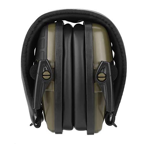 Elektronisches Schießen Ohrenschützer Helme Gehörschutz Gehörschutz Schallverstärkung Schießen Geräuschdämpfende Jagd Ohrenschützer Kompakte Klapp-Ohrenschützer Automatische Abschaltung (Armeegrün)