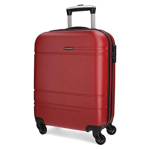 Amazon Basics Equipaje de Mano, 55 cm, 37 Litros, Rojo