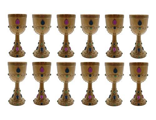 Mardi Gras Molded Crown Goblets - 1 dozen - Party Supplies