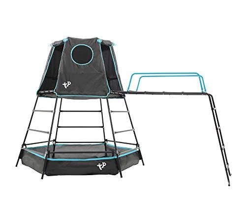 TP Toys Klettergerüst Explorer 306x208x201 cm schwarz Spielturm Spielgerüst Bällebad Spielgerät Outdoor Spielplatz Garten