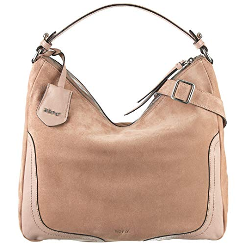 abro Beuteltasche Veloursleder in Natural ab-28393-33-52