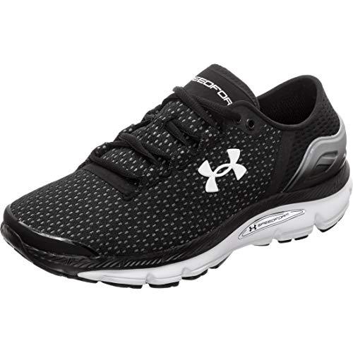 Under Armour Women's Speedform Intake 2 Running Shoe, Black (002)/Steel, 6
