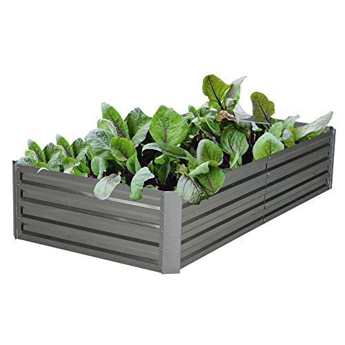 Galvanized Steel Raised Garden Bed Kit Extra Height Elevated Planter Box Steel Large Vegetable Flower Bed Kit (3FT x 6FT x 1.3FT)