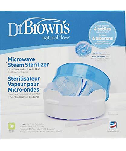 Esterilizador Dr. Brown a vapor para microondas