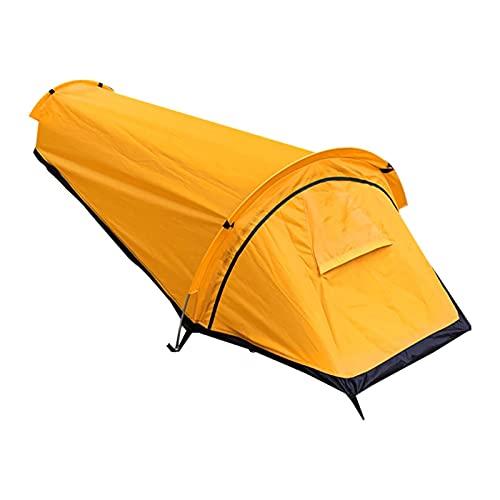 JUNMAIDZ Tienda Top! -Ultralight Tent Single Persona Mejor PERRAMIENTO Saco Impermeable para el Viaje de la Supervivencia del Camping al Aire Libre (Color : Yellow)
