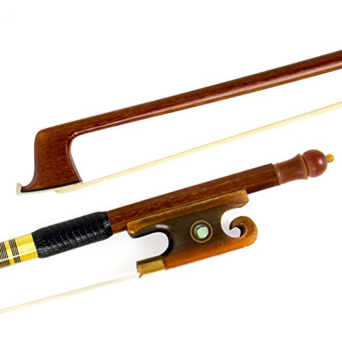 Kmise Geigenbogen Violinenbogen 4/4 Volle Größe Sandelholz Bogen für Geige Fiddle mit Mongolisch Rosshaar OX Horn Frosch Messing Drahtwicklung für Anfänger und Erweiterter Spieler