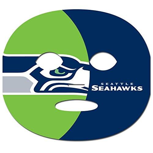 Siskiyou Set of 8 Game Day Faces Seattle Seahawks Spieltagesgesichter, 8 Stück, blau, One-Size