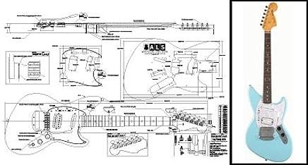 Amazon.com: Plan of Fender JagStang Electric Guitar - Full ... on