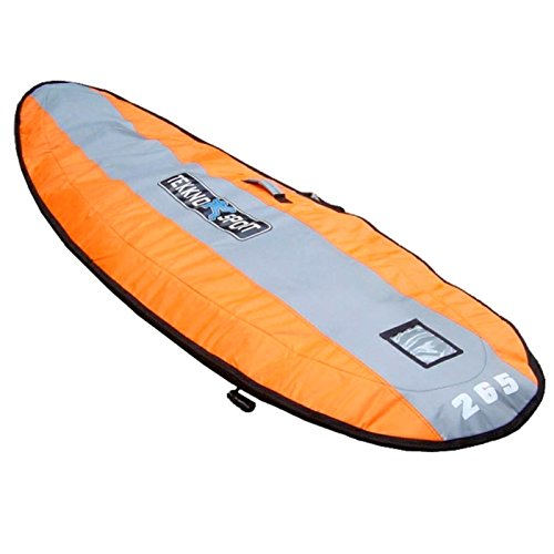 Tekknosport Funda acolchada para tabla de windsurf 225 (230 x 65 cm), color naranja