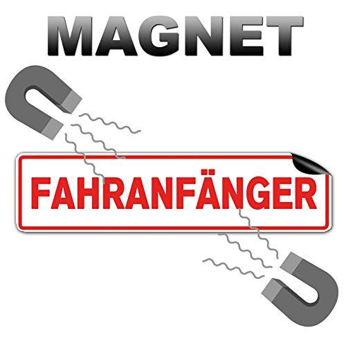 STROBO Fahranfänger Hochwertiges Magnetschild als 32x8cm Magnetfolie Warntafel Schild mit UV- Schutz