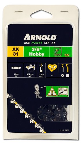 Arnold Sägekette 3/8 Zoll Hobby, 1.1 mm, 55 Treibglieder, 40 cm Schwert 1191-X1-0006