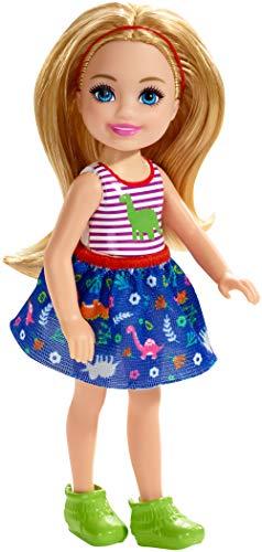 Barbie - Chelsea Muñeca Rubia con Estampado de Dinosaurios
