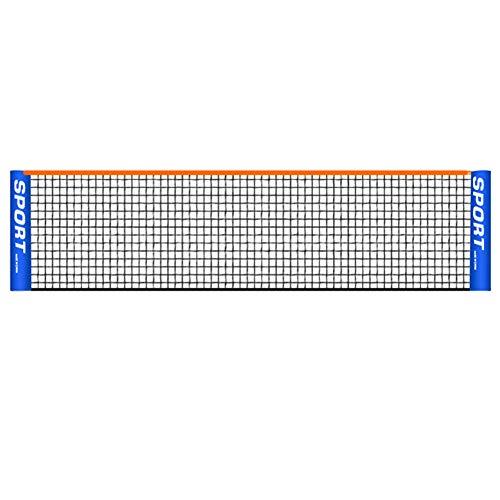 KYLMET 3-6 m tragbares, faltbares Tennisnetz für Kinder und Erwachsene, kurzes Tennisnetz für drinnen und draußen, mobiles Tennisnetz (ohne Stange) (3.1)