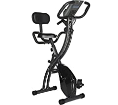 LCD display with six functions: speed, time, distance, scan, calories, and pulse Multiple levels of adjustable magnetic resistance, built-in, upper-body resistance bands and fixed handlebars with hand pulse Adjustable cushion seat, nonskid foot pedal...