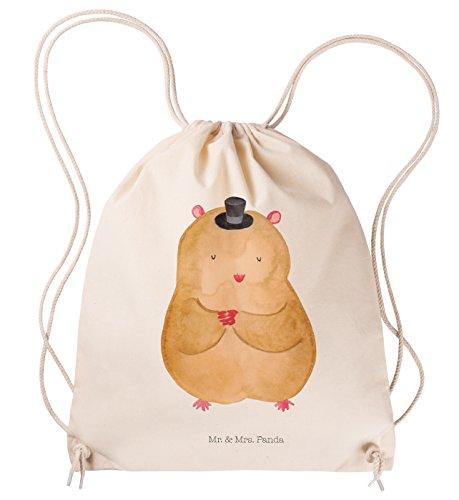 Mr. & Mrs. Panda Hipster, Jutebeutel, Sportbeutel Hamster mit Hut - Farbe Transparent