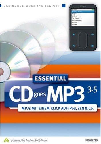 Preisvergleich Produktbild CD goes MP3 3.5 Essential,  1 CD-ROM MP3s mit einem Klick auf iPod