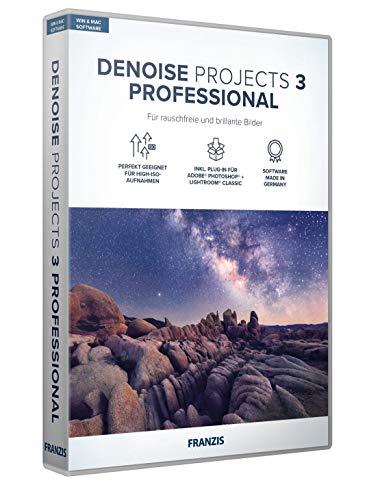 FRANZIS DENOISE projects 3 professional Bildbearbeitung Fotografie für Laien und Profis Incl. Photoshop PlugIn für Windows & Mac Disc Disc