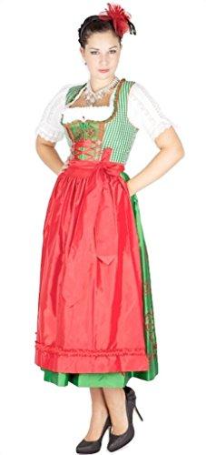 Krüger 9341 Manufaktur 85er Dirndl grün rot Size 36