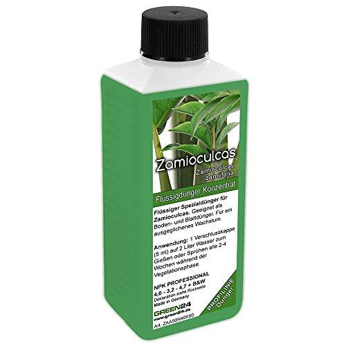 GREEN24 Flüssigdünger für Zamioculcas zamiifolia,Glücksfeder, Kartonpapier-Palme Zamie (Zamia Farn, Zamio Palme) Zanzibar Pflanzen/Zimmerpflanzen NPK Volldünger