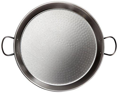 La Valenciana - Padella per palella, in Acciaio lucidato, Manici in Ceramica, per induzione, 38 cm, Colore: Nero