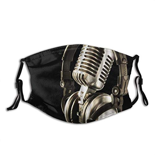 AMW Music Musical Instrument Microphone Close-up Image Washable Cloth Sportmaske for Men Women Cycling Camping Travel