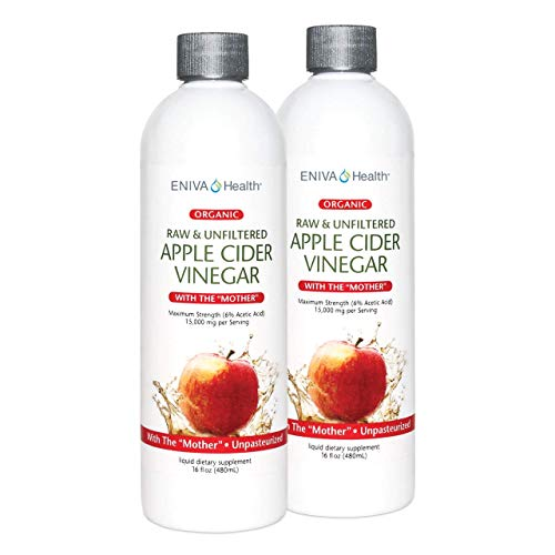 Apple Cider Vinegar with The Mother Organic-Raw-Unfiltered 16oz (Pack of 2)