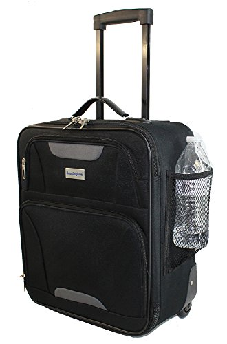 Airlines Personal Item Under Seat Basic Luggage 16.5' (Black)