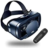 【NEWEST】3D VR Headset With Remote Controller,VR Glasses,VR Goggles -Compatible for iph X 7/7+/6s/6