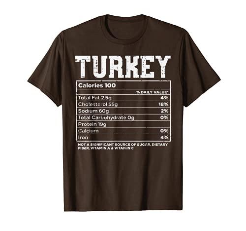 Turchia Fatti nutrizionali Ringraziamento cibo Ricetta Famiglia Maglietta