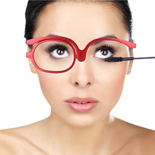 Bril, Vrouwen Make-up Leesbril, Draaibare Flip make-up oogglazen, make-up bril, vergrotende oogmake-up bril, enkele lens roterende bril, vrouwelijke make-up essentiële gereedschap(#1)