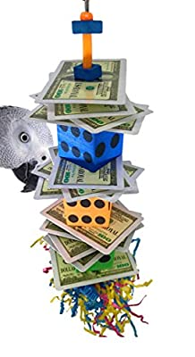 Bonka Bird Toys 1474 Poker Dice Shred Bird Toy Parrot cage Craft Cockatiel Parakeet Forage Shred Budgie Accessories Assorted chew Supplies