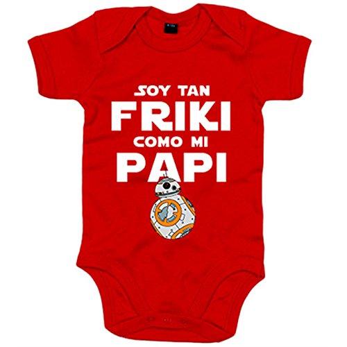 Body bebé Soy tan friki como papi - Blanco, 6-12 meses
