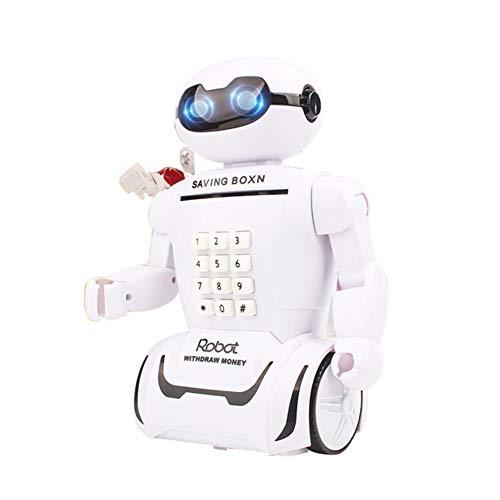 ILH Ahorro luz LED Robot Hucha Decoración Música
