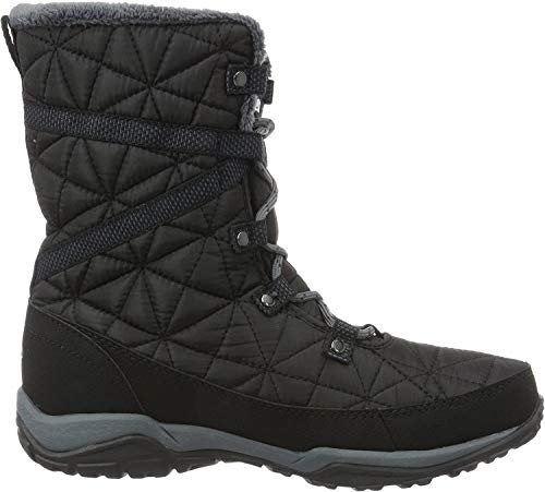 Columbia Loveland Mid Omni-Heat Waterproof, Botas de Nieve para Mujer, Negro (Black/ Sea Salt), 36 EU