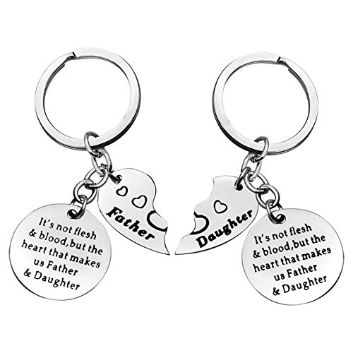 Stepdad Gift from Daughter Step Dad Keyring Step Daughter Keychain Adoption Gift Father Gifts Father's Day Birthday Christmas Gift for Step Dad Papa Father Funny Gift Daughter in Law Gift