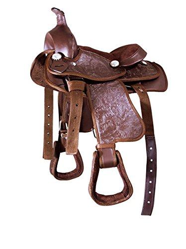 Kunststoff Westernsattel, braun Pony