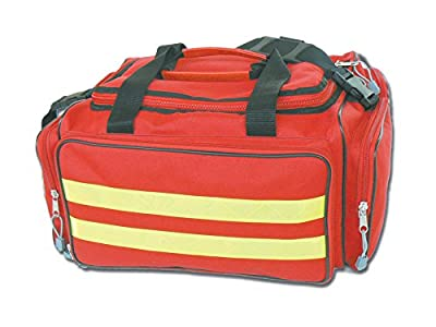 GIMA - Emergency Bag, Red Colour, Polyester, Emergency, Trauma, Rescue, Medical, First Aid, Nurse, Paramedic Multi Pocket Bag, 35x45x21 cm from Gima S.p.A.