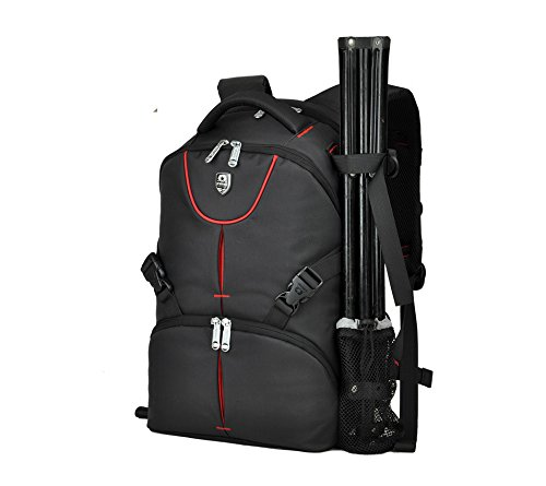 Abonnyc DSLR SLR zaino borsa da viaggio custodia antiurto impermeabile con copertura antipioggia per Canon Nikon Sony Panasonic Olympus Pentax