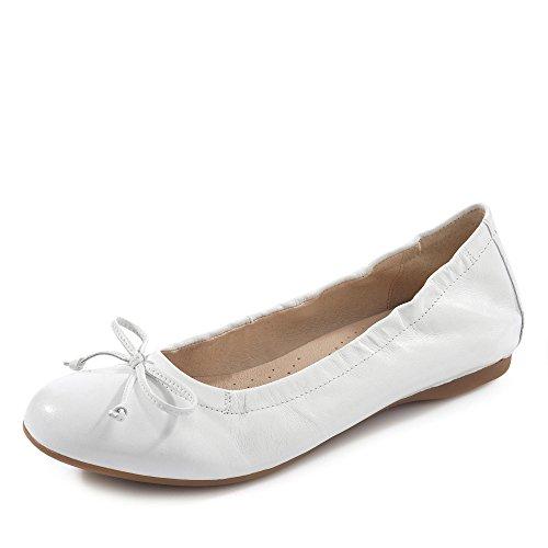 Gabor Shoes Damen Casual Geschlossene Ballerinas, Weiß (Weiss 21), 42 EU