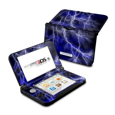 Nintendo 3DS XL Skin Schutzfolie Design modding Sticker Aufkleber - Apocalypse Blue