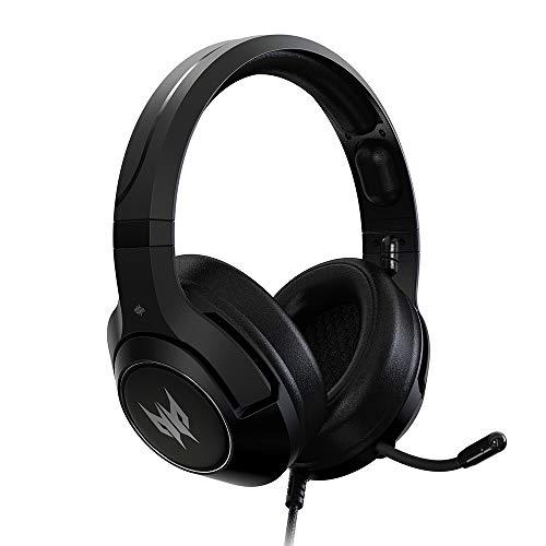 Acer Fone de ouvido para jogos Predator Galea 350 com som surround 7.1, microfone unidirecional com cancelamento de ruído, compatível com PC, Xbox One, PS4